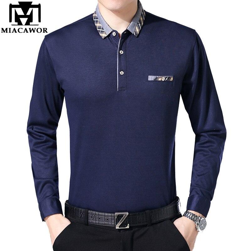 Aus Dem Ausland Importiert Miacawor Neue Casual Männer Polo Shirt Frühling Langarm Einfarbig Polo-shirt Mode Kragen Camisa Polo Masculino T683 Babykleidung Mädchen