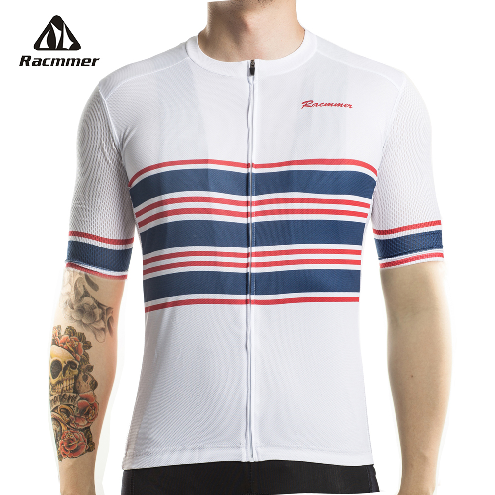 Racmmer 2018 Breathable Cycling Jersey PRO FIT Summer Mtb Cycling Clothing Bicycle Short Maillot Ciclismo Sportwear Bike Clothes x tiger 2017 breathable pro cycling jersey summer mtb bike clothes short sleeve bicycle clothing hombre ropa maillot ciclismo