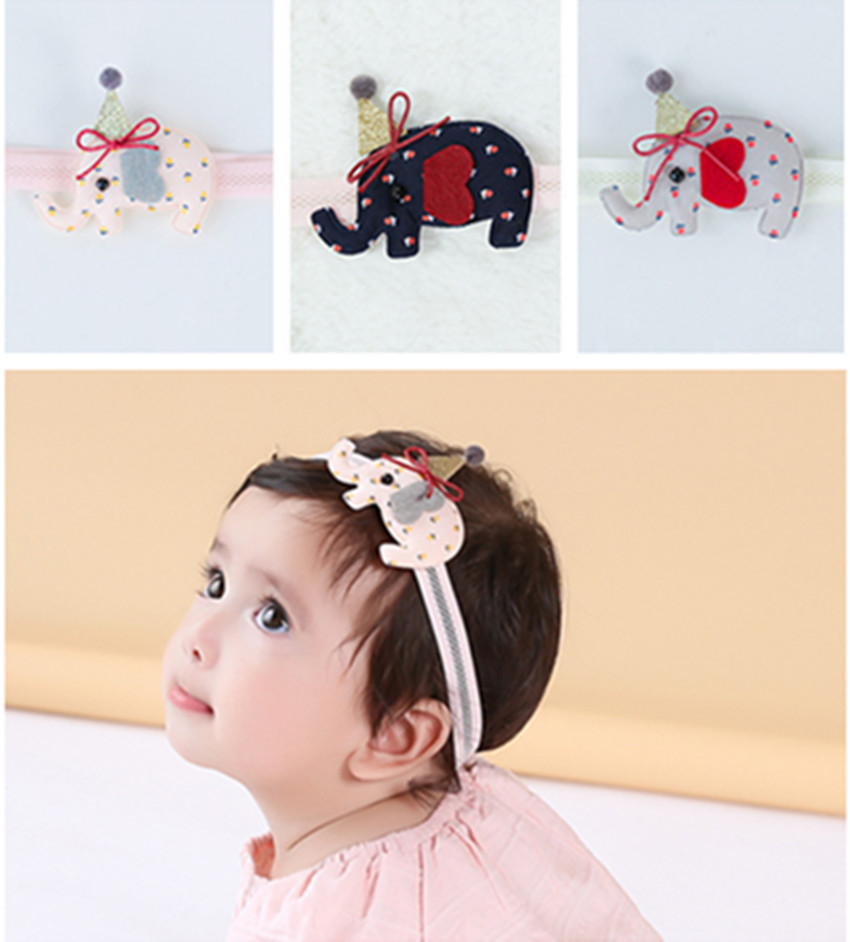 Korea Elephant Princess Kids Headband Cotton Hair Accessories Flower crown Girls Hair Bows Hair Bands Hair Ties 45