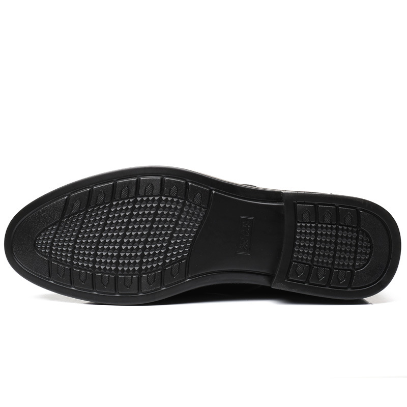 8138 preto Dos Sapatas Luxo Moda Sapatos Brown Respirável Homens Nova Único Couro Lazer Apontou Do De ZwxfqTZ