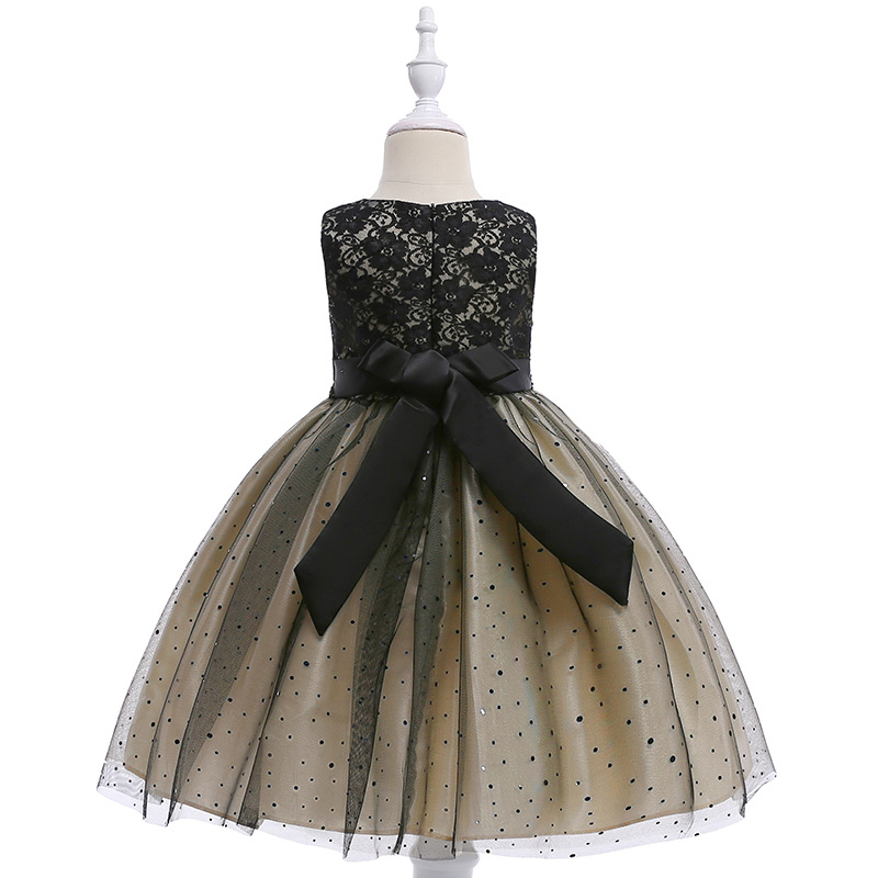f1ef3e51f51 JaneyGao Flower Girl Dress For Wedding Party Black Kids Formal Dress Little  Girl Prom Gown Pageant Dress 2019 New Fashion Style-in Flower Girl Dresses  from ...