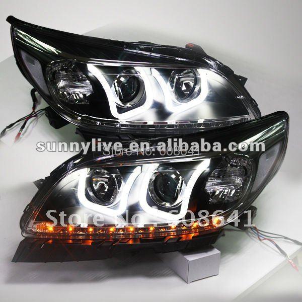 For CHEVROLET Malibu LED Headlight Angel Eyes Projector