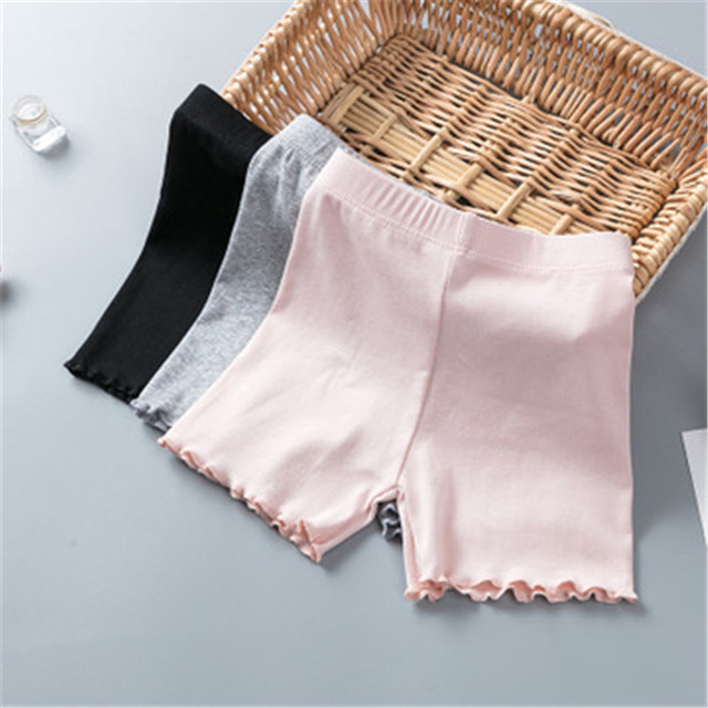 100% Cotton Girls Safety Pants Top Quality Kids Short Pants Underwear Children Summer Cute Shorts Underpants For 3-11 Years Old 2
