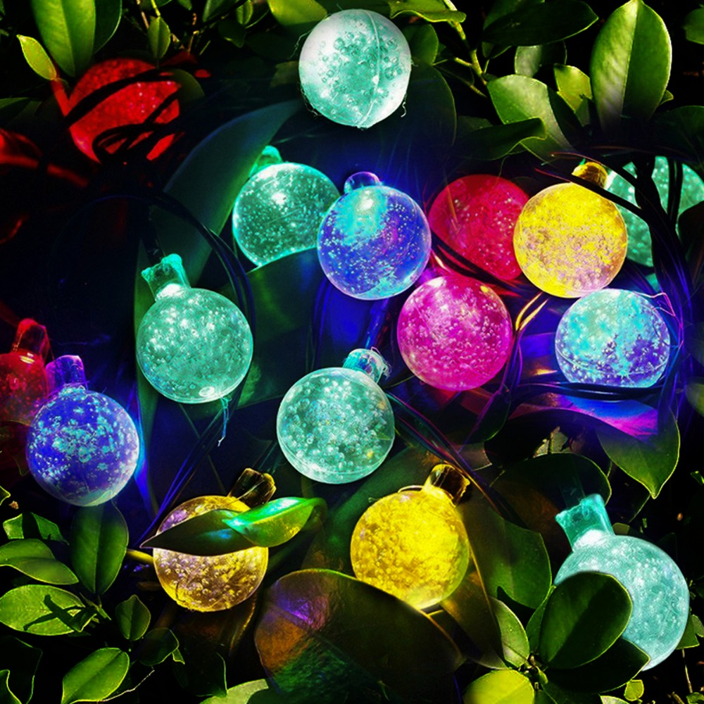 5m 30 Bola de Led bola de luz solar jardín Luces de Navidad led - Iluminación exterior - foto 4