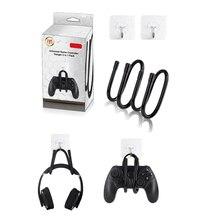 2 в 1 упаковка универсальный игровой контроллер вешалка для nintendo Switch/ps4/xbox и наушников Вешалка для Экономия пространства настенный держатель