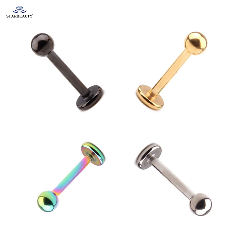 In Short Supply Labret Stud With Spike vital Body Jewelry Titanium