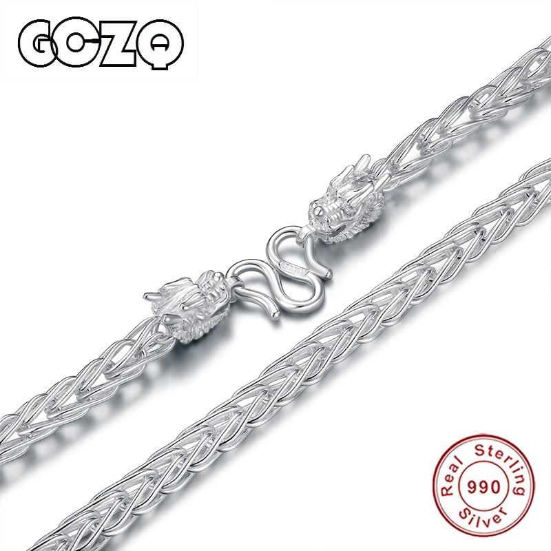 GCZQ bijoux fins collier en argent sterling pour homme bijoux avec chaîne style élégant hommes collier en argent Sterling