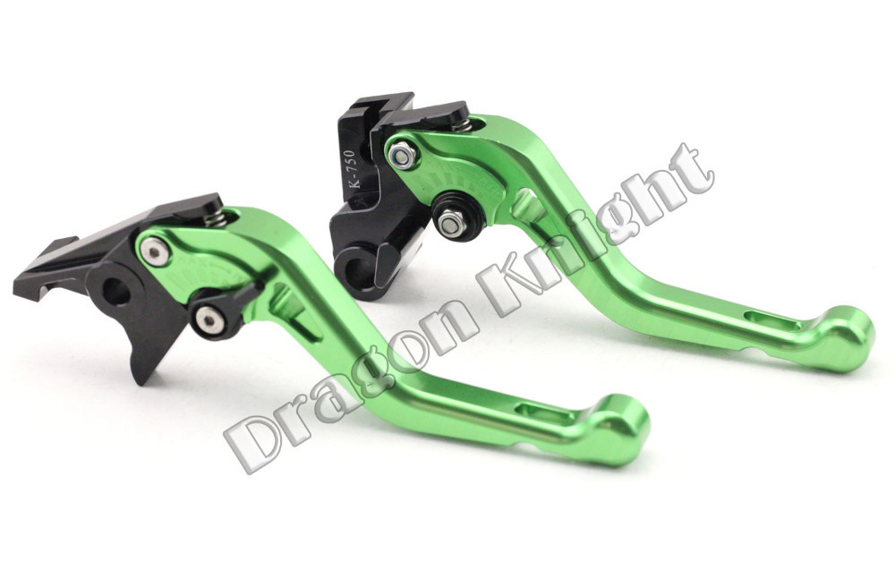 Motocycle Accessories For KAWASAKI ZZR400 ZZR600 90-03 Short Brake Clutch Levers Green motocycle accessories for honda cb600f cb900f cbf600 short brake clutch levers black