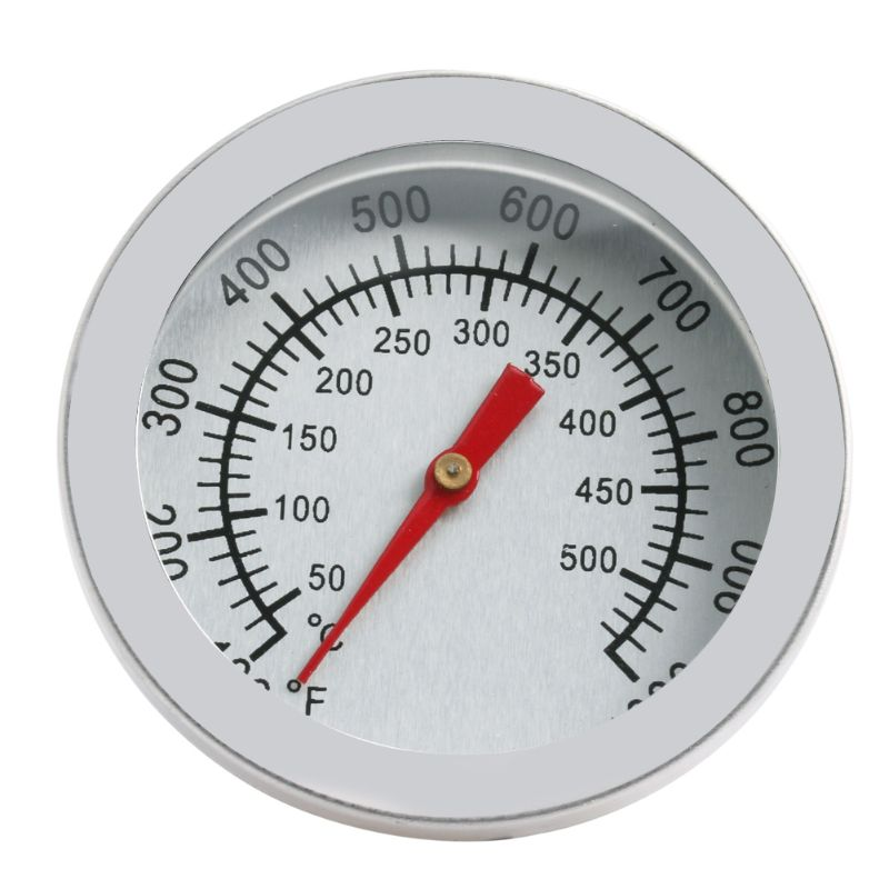 Stainless Steel Barbecue BBQ Smoker Grill 50-500 Celsius Thermometer Temperature Gauge