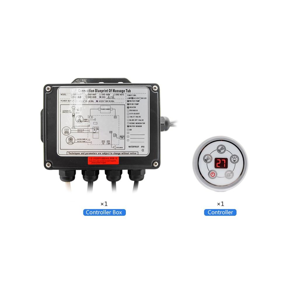 Painel de controle digital redondo da c.a. 110 v/220 v com tela lcd ce certificado spa combinação massagem água banheira controlador kits-2