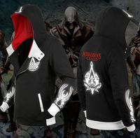 2018 Mens 3M Reflective Assassins Creed Hoody Jackets Men Cosplay Tracksuit Oversized Hoodies Winter Sudadera Hombre