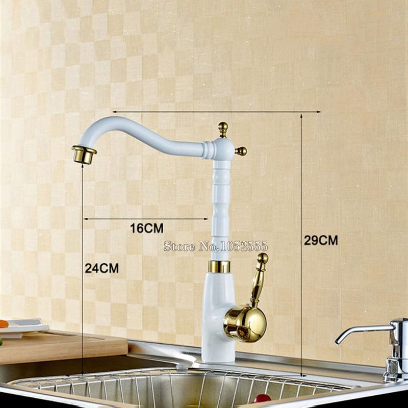 Traversant le robinet doré torneiras mitigeur vasos robinet evier eau torneira cozinha robinet de cuisine misturador robinet poignées CP01 - 6