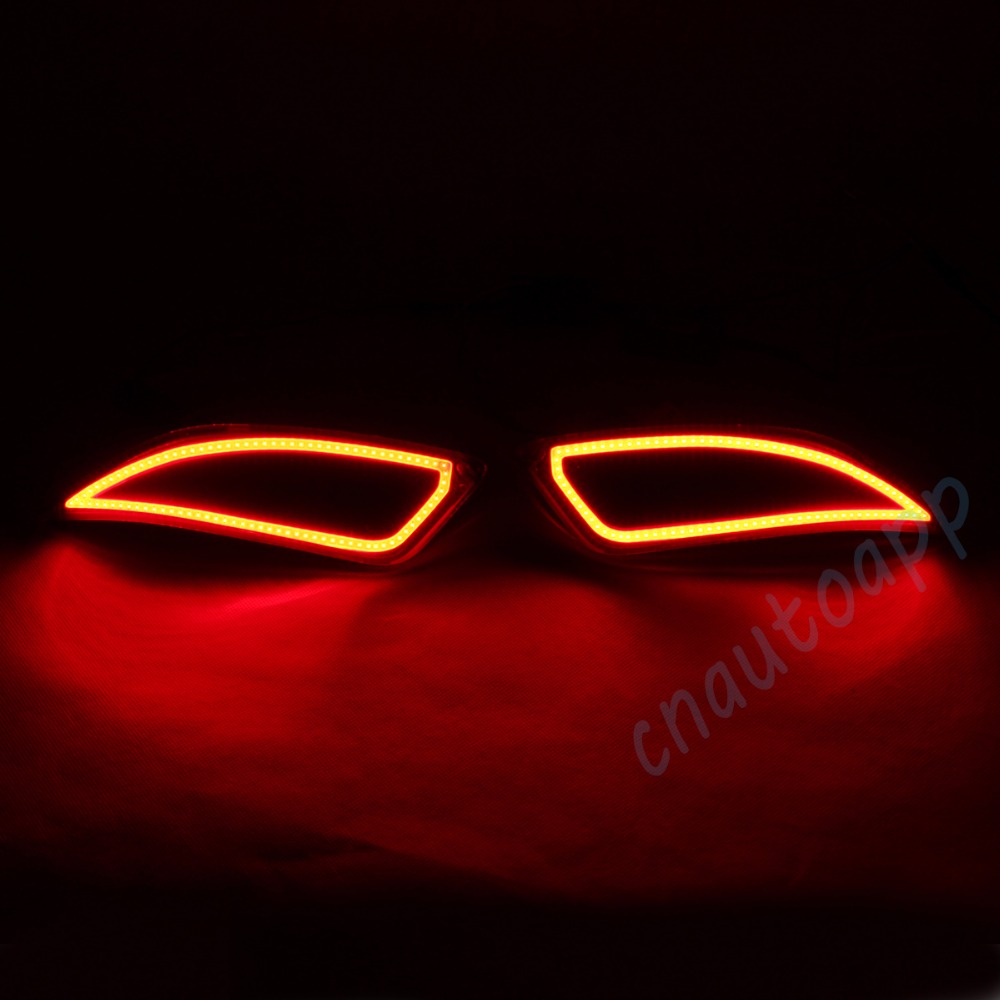 LED Rear Bumper Warning Lights Car Brake Lamp COB Running Light  For  Toyota Camry 2015-2016 (One Pair) led rear bumper warning lights car brake lamp cob running light led turn light for hyundai sonata 8 2014 2015 one pair