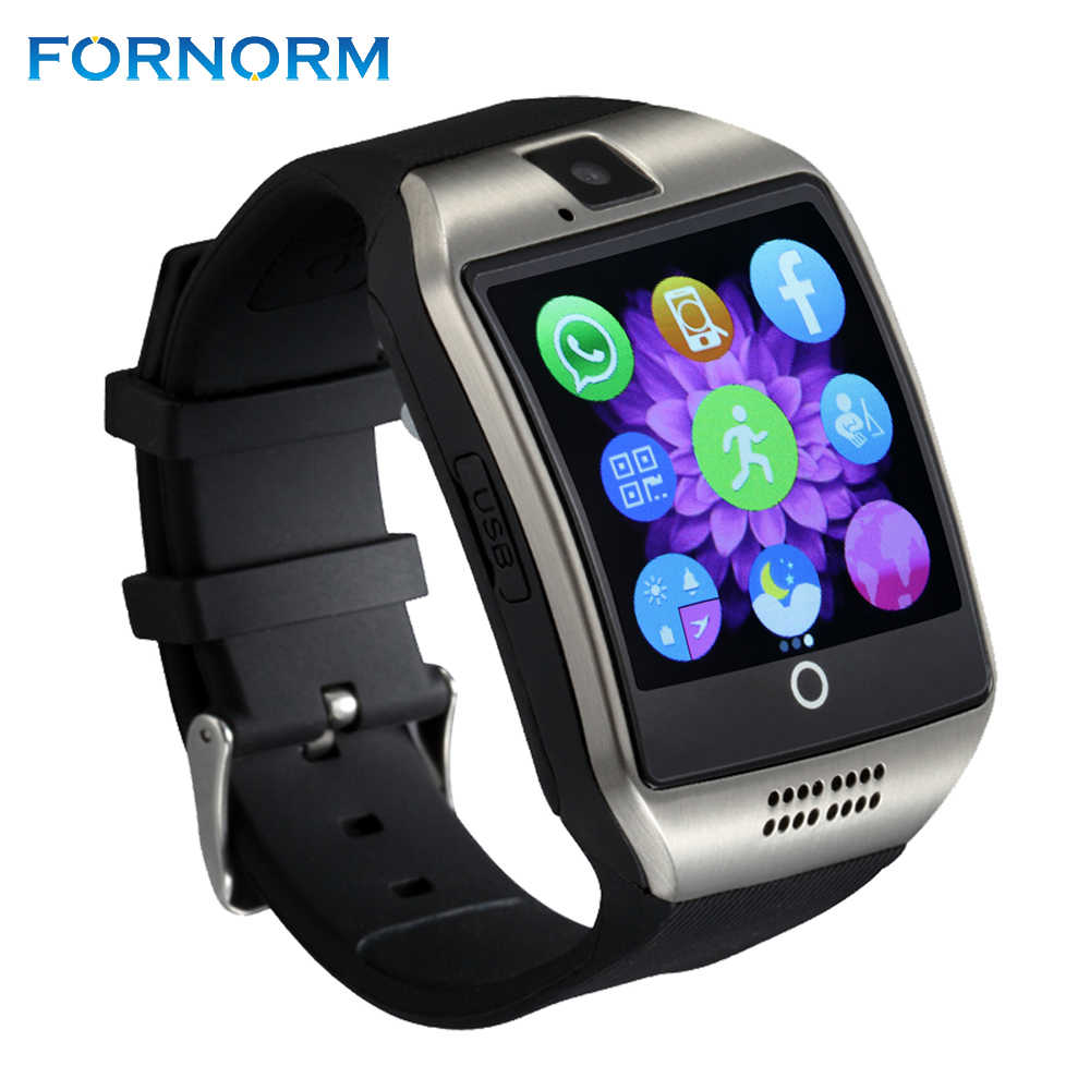 FORNORM Bluetooth Smart Watch Q18 Intelligent Clock With Camera Anti-lost Smart Watch Support Micro SIM TF Card For IOS Android