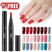 hot deal buy lemooc 5ml 88 colors gel nail varnish pen glitter nail gel polish hybrid dawdler uv nail art gel lacquer gel paint