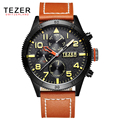 TEZER brand watches men's sports watch business men watch quartz watch waterproof T2051
