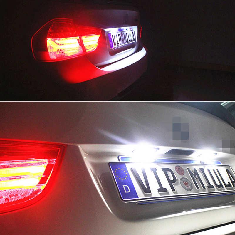 2x Lỗi Miễn Phí LED Giấy Phép Mảng Ánh Sáng 2835SMD Trắng Đối Với Ford Focus Fiesta Mondeo MK4 Kuga Galaxy S-max C max Mk2 DA3 MK3 MK5 MK6