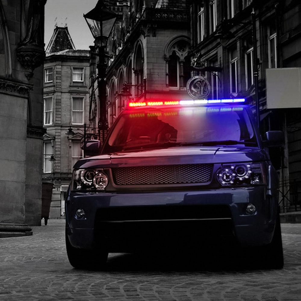 12v 35 Quot Car Led Strobe Work Light Bar Police Car Flash