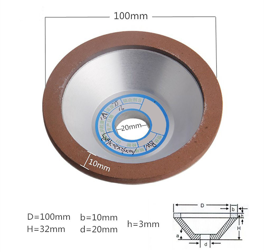 Diamond Grinding Wheel 100mm 150/180/240/320 Grain Cutting Saw Blade Disc Cup-Shaped Grinding Wheels Rotary Abrasive Tools