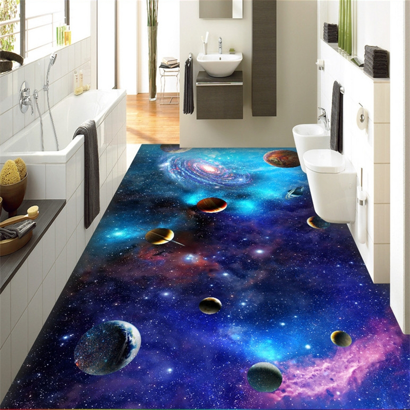 Beibehang Cosmic Galaxy Stars Custom Photo Floor Wallpaper