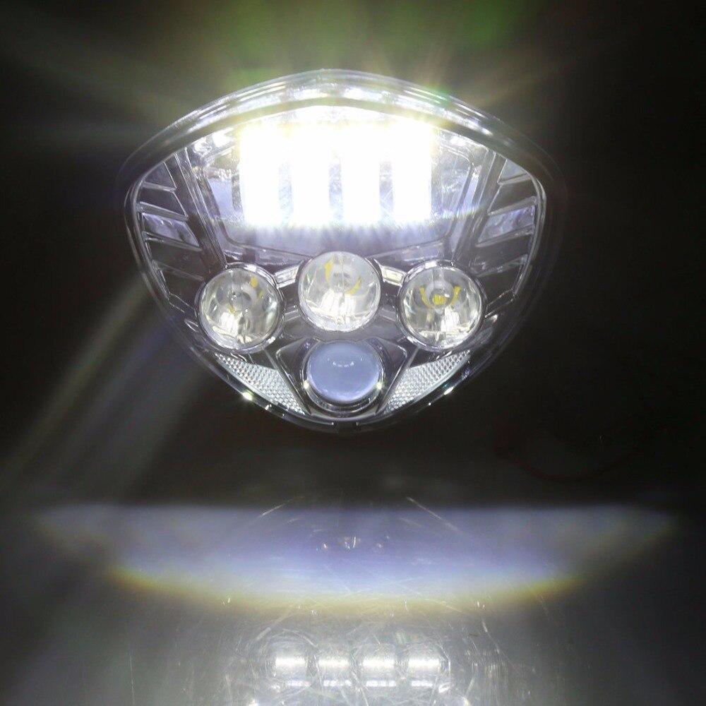 Motorrad 40 Watt Cre LED Scheinwerfer lampe Schwarz H/L Strahl Für Sieg cross land - 5