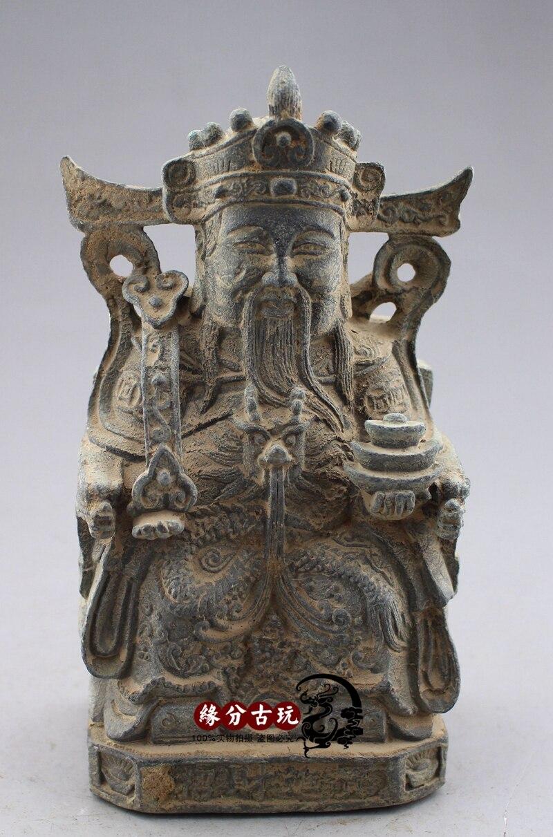 Ancienne statue chinoise en Bronze statue dieu de la richesse statue en cuivreAncienne statue chinoise en Bronze statue dieu de la richesse statue en cuivre