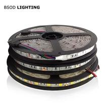 BSOD 24 فولت أشرطة SMD بمصباح LED 5050 Led الشريط الأبيض/الدافئة/RGB/الأحمر/الأخضر/الأزرق ضوء مرنة لا مقاوم للماء للديكور LED خط