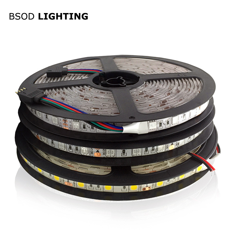 Tira Led SMD 5050 BSOD de 24 V, cinta LED blanca/cálida/RGB/roja/Verde/azul, Flexible, No impermeable para decoración, tira Led