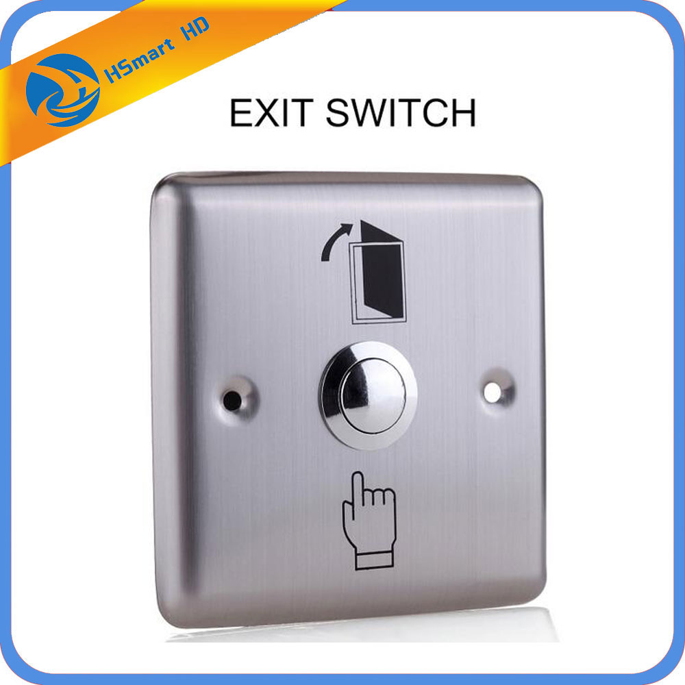 цена на New 86*86cm Stainless Steel Rectangle 12V DC Exit Push Release Button Switch For Electric magnetic Lock Door Access Control