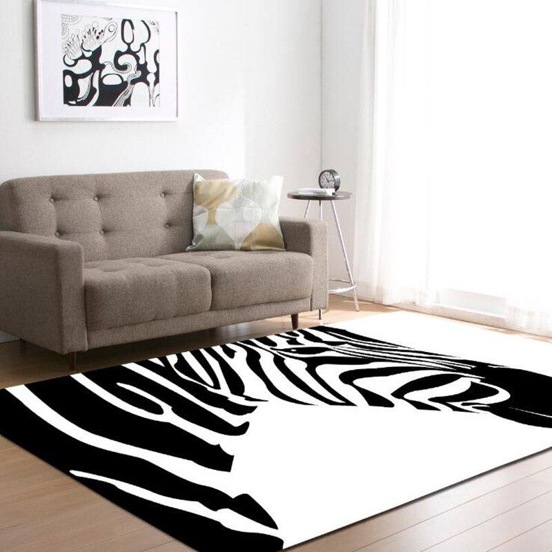 Zèbre imprimé tapis pour salon tapis de jeu bébé chambre jeu tapis ramper tapis enfant salle de bain toilette anti-dérapant tapis chambre d'enfants