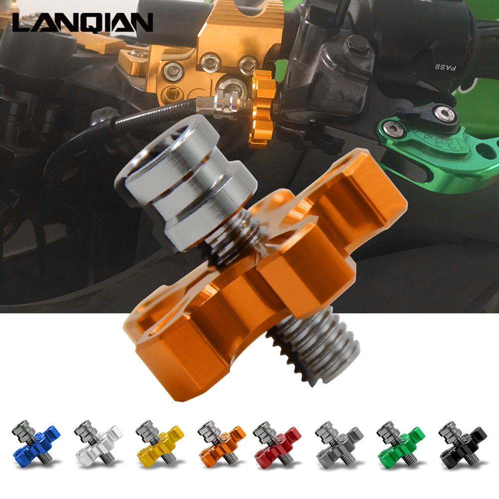 8mm/10mm Motorcycle CNC Aluminum Clutch Cable Wire Adjuster For KTM Duke RC 125 200 390 1290 Super Duke HONDA CBR600RR CBR1000RR motorcycle spring for cf400 duke ktm 125 duke 200 duke 390 handlebar balance bar can be stretched cross bar