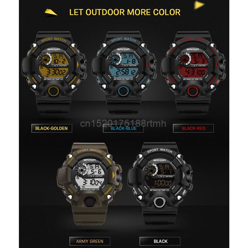 30m Waterproof Digita Date Alarm LED Luminous Stopwatch Sport Military Men Watch сумка для видеокамеры rush freeshpping r6721 digita slr packpack a2210