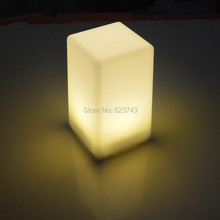 все цены на Free shipping 1 piece colorful changeable rechargeable quadrate LED bar table lamp dimmable led night light for bar decoration онлайн