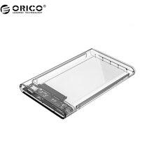 Orico 2139c3 usb3.1 uasp tipo c 2.5 pulgadas transparente caja para disco duro caja de disco duro de apoyo protocolo uasp