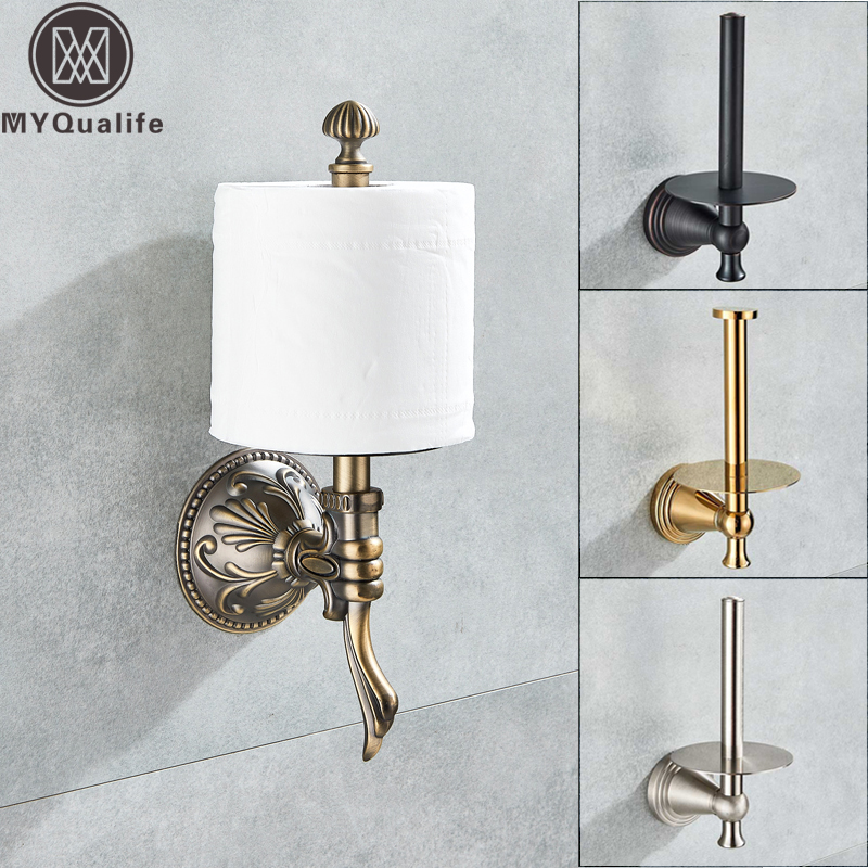 Bathroom Toilet Paper Holder Wall Mounted Creative Roll Paper Tissue Rack Wall Standing Bathroom Kitchen Paper Rack Bar free shipping wholesale and retail wall mounted toilet paper holders antique brass creative bathroom roll paper rack rod