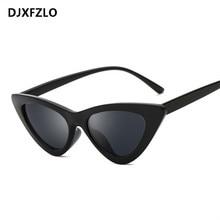 53c8e3637573d Pequeno triângulo sexy bonito retro cateye olho de gato óculos de sol das  mulheres marca designer black white vintage sun glasse.
