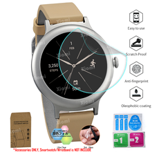10Pcs/Lot(5Films+5Wipes)For Smartwatch LG Watch Style W270 Screen Protector Cover Tempered Glass Protective Film Clear Guard