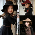 2016 HOT! Winter Kids Floppy Hat chapeu feminino Soft Vintage Wide Brim Wool Felt Fedora Hats Floppy Cloche Child Boy Girl Hats