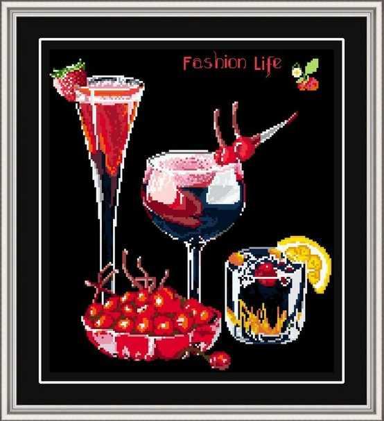 יין ברי פירות תפר צלב ערכת שחור בד אאידה נספרה 14ct 11ct יד רקמת DIY בעבודת יד רקמה ספקים תיק