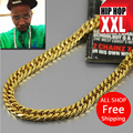 High quality 100% 24K Gold plated 92cm Long Cuban Link Chain Hiphop Statement necklace Young Jeez Jay-Z men jewelry bijouterie