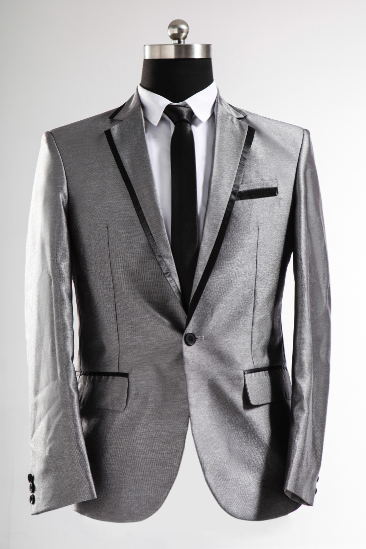 White and Silver Wedding Tuxedo | Dress images