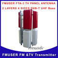 Fmuser FTA - TV-1 PANEL antena DVB-T de la Base UHF 2 capas 4 lados DVB-T antena wireless tv envío gratis