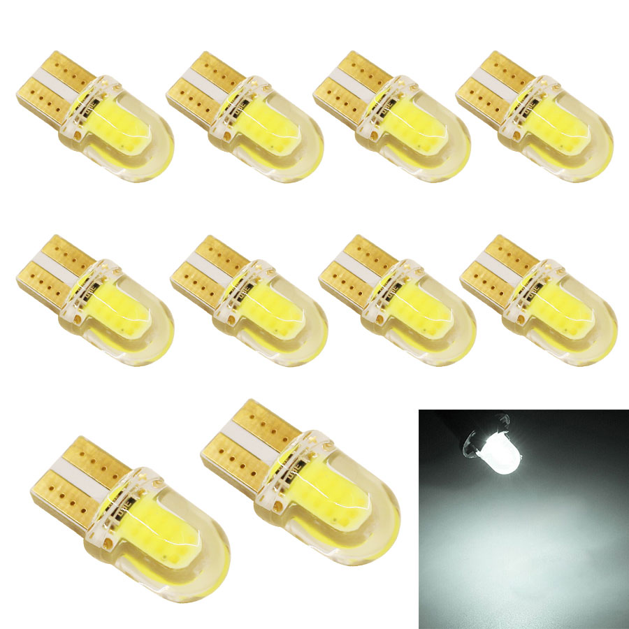 W5W T10 auto led light car light bulbs COB 8SMD LED CANBUS Silica Super Bright White License Plate Bulb New 10x carprie super drop ship new 2 x canbus error free white t10 5 smd 5050 w5w 194 16 interior led bulbs mar713