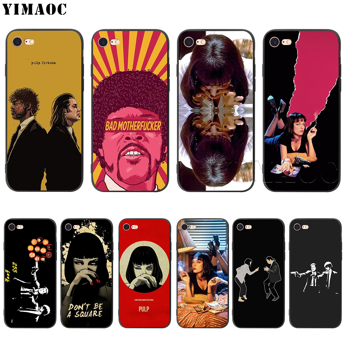 YIMAOC Pulp Fiction Silikon Weiche Fall für <font><b>iPhone</b></font> 11 Pro XS Max XR X 8 7 6 <font><b>6S</b></font> Plus 5 5S SE image