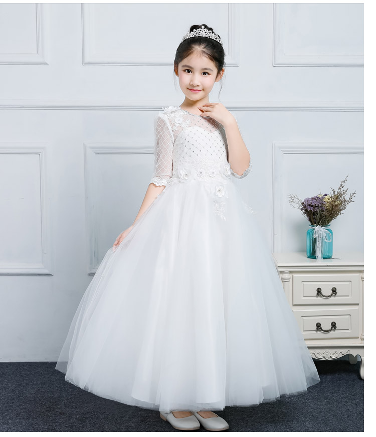 Actual Image New Flower Girl Dresses Beaded Lace Applique First Communion Dress for Girls Customized Gown ladylike applique beaded tank top for women