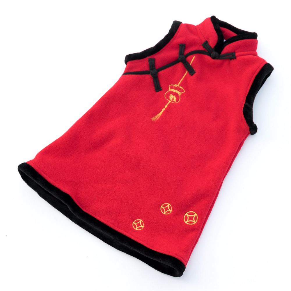 Winter Girls Clothes Embroidery Vest Baby Girls New Years Outwear Kids Costume Toddler Girl Chinese Style Vest 2 3 4 5 6 7 Years
