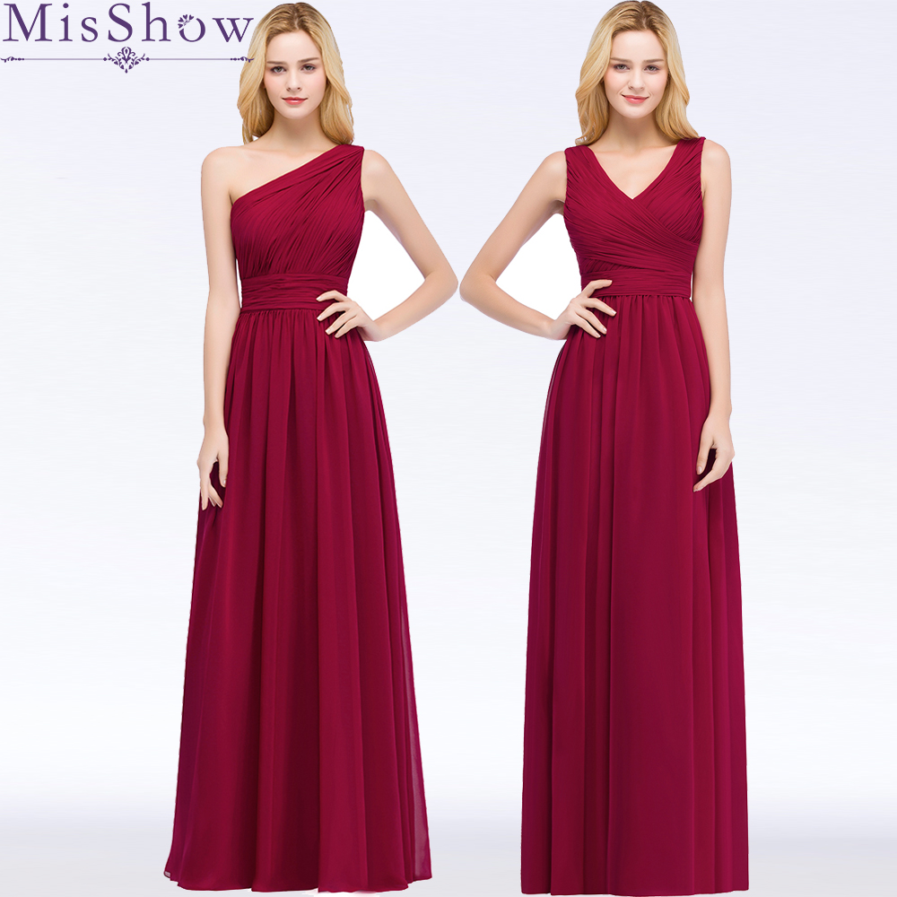 New Long Bridesmaid Dresses Vestidos De Fiesta One