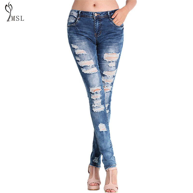 # Ripped Jeans for Women Black Free Shipping Denim Pants Ladies Jeggings Jeans for Women Boyfriend Jeans for Women Skinny Jeans