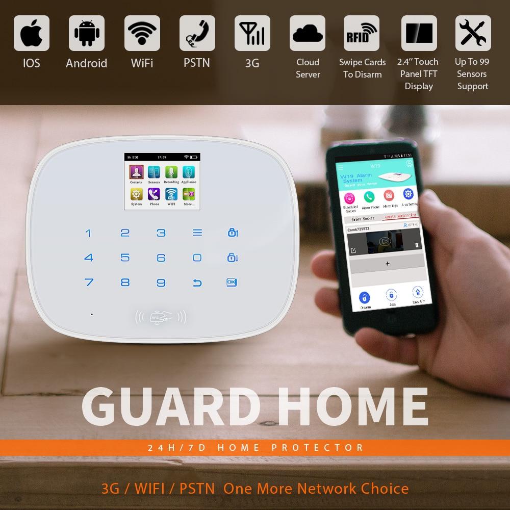 KERUI W193 3G PSTN LCD Smart Alarm Alarmanlagen Sicherheits Hause Alarma GSM RFID IOS Android APP Steuerung Drahtlose WIFI alarm Systeme - 2