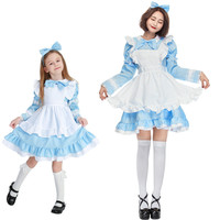 Mother Daughter Dresses Halloween Cosplay Lolita Style Costume Family Matching Outfits Princess Girls Dress Vestidos H0196